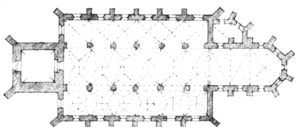 Kirche, Grundriss, vor 1873