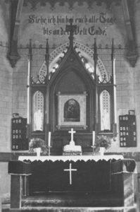 Altaraufsatz, vor 1952