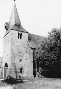 Kirche, Ansicht von Südwesten, Teilansicht, 1970 (?)