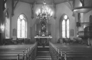 Kirche, Blick zum Altar, nach 1952, vor 1976