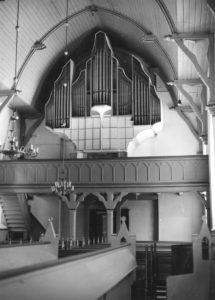 Kirche, Blick zur Orgel, nach 1960
