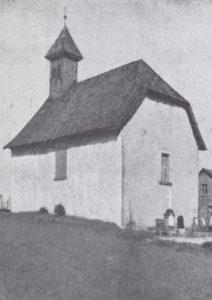 Kapelle, Ansicht von Südosten, 1935