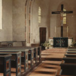 Kirche, Blick zum Altar, Foto: Ernst Witt, Hannover, April 1956