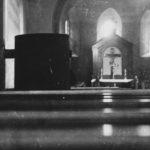 Kirche, Blick zum Altar, vor 1954