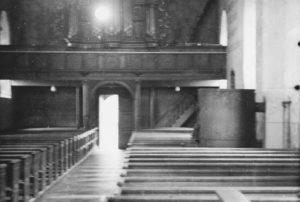 Kirche, Blick zur Orgel, vor 1954