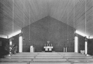 Kirche, Blick zum Altar, vor 1983