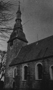 Kirche, Ansicht von Südosten, Teilansicht, 1980