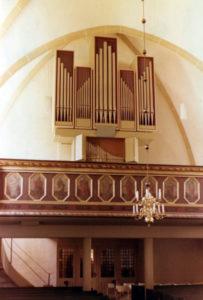 Orgel, nach 1976, Orgelprospekt: Zustand 1976