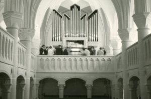 Kirche, Blick zur Orgel, nach 1970 (1970 Orgelneubau)