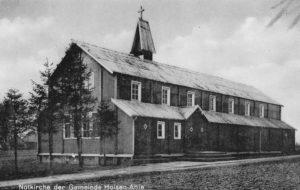 Bodelschwinghsche Notkirche in Holsen-Ahle (Kr. Herford), seit 1952 in Glandorf, Foto nach 1912, vor 1952