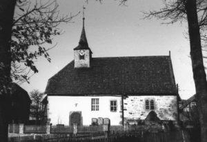 Kapelle, Ansicht von Süden, um 1960