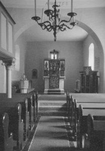 Kapelle, Blick zum Altar, Foto: Ernst Witt, September 1959