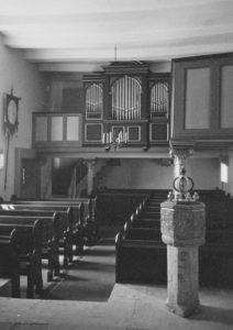 Kapelle, Blick zur Orgel, Foto: Ernst Witt, September 1959