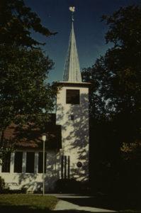 Kirche, Ansicht von Süden, Teilansicht, 1980