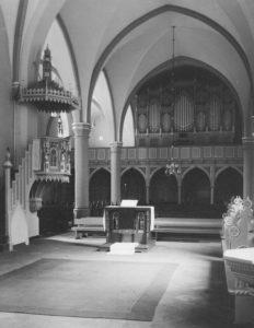St. Matthäi, Blick nach Westen, 1957, Foto: Ernst Witt, Hannover, 1957