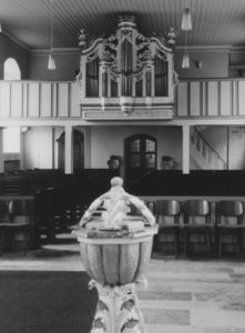 Kirche, Blick zur Orgel, Foto: Ernst Witt, Hannover, Oktober 1965
