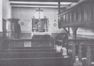 Kapelle, Blick zum Altar, 1935