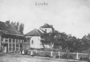 Kirche, Ansicht von Nordosten, um 1900, Postkarte (Ausschnitt)
