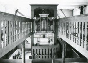 Alte Kirche, Blick zur Orgel, vor 1968