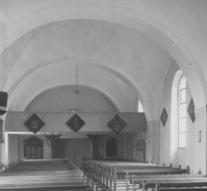 Kirche, Blick zur Westempore, Foto: Ernst Witt, Hannover, Mai 1953