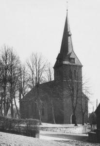 Kirche, Ansicht von Nordwesten, um 1953