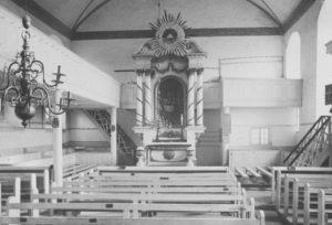 Kirche, Blick zum Altar, wohl nach 1959