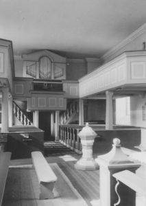 Kirche, Blick zur Orgel, Foto: Ernst Witt, Hannover, April 1956