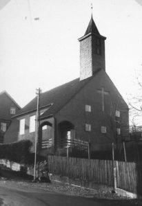 Kapelle, Ansicht von Nordosten (?), um 1960