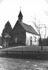 Kapelle, Ansicht von Südwesten, um 1960
