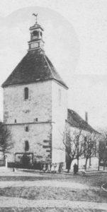 Kirche, Ansicht von Südwesten, um 1900