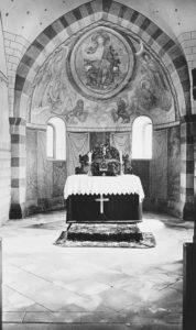 Kirche, Blick in den Altarraum, um 1931, Fotograf: H.Pietzsch