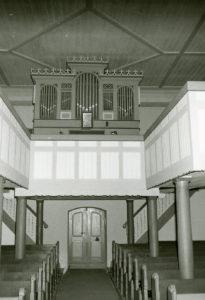 Kapelle, Blick zur Orgel, 1974