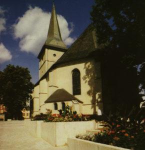 Kirche, Ansicht von Südosten, 1980