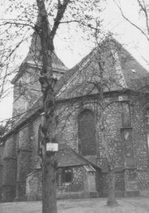 Kirche, Ansicht von Südosten, vor 1977