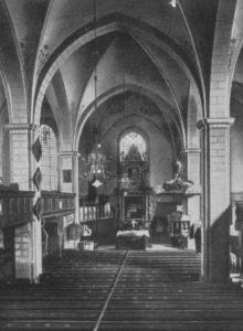 Kirche, Blick zum Altar, 1948