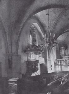 Kirche, Blick zur Orgel, Teilansicht, vor 1915