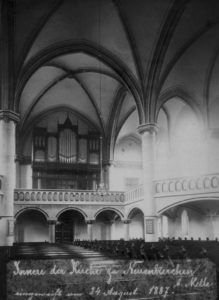 Kirche, Blick zur Orgel, wohl vor 1957