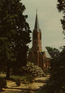 Kirche, Ansicht von Südwesten, 1980