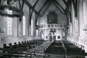 Kirche, Blick zur Orgel, vor 1964. 1964 Orgelneubau