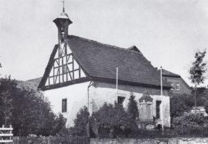 Kapelle, Ansicht von Südwesten, 1936