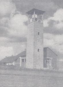 Kirche, Ansicht von Südwesten, 1958