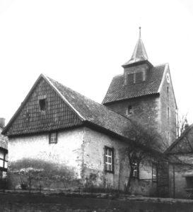 Kapelle, Ansicht von Nordosten, um 1960