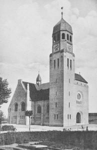 Kirche,, Ansicht von Nordwesten, um 1930