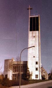 Kirche, Ansicht von Westen, 1980