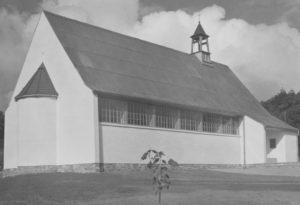 Kirche, Ansicht von Südosten, 1952