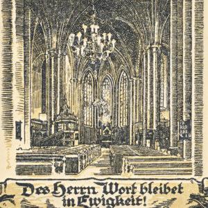 Kirche, Blick zum Altar, vor 1945