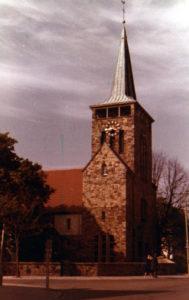 Kirche, Außenansicht, Teilansicht, 1980