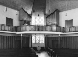 Kirche, Blick zur Orgel, nach 1962 (1962 Orgelneubau)