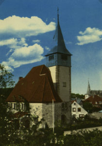Kirche, Ansicht von Südwesten, vor 1980