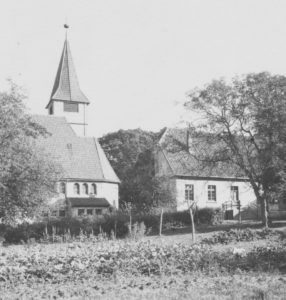 Kirche, Ansicht von Westen, Teilansicht, um 1916